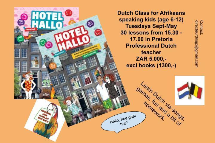 Nederlandse les in Pretoria voor kinderen met een Afrikaans sprekende achtergrond.